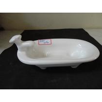 #8684# Saboneteira Em Porcelana Banheirinha Branca!!!