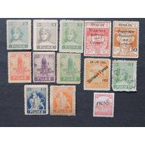 Italia Fiume 1918-22 13 Selos Alto Valor Cot. 80 $dol