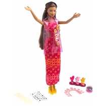 Barbie Amazing Nails 2001 Kayla Unhas Morena Antiga Rara