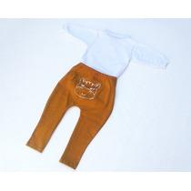 Conjunto Infantil Menino Bebe Body E Calça Saruel Amarela