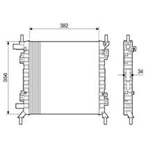 Radiador Motor-alternativo-ka 2000 Ate 2008-1.0/1.6 Rocam