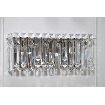 Arandela Luminária De Parede Com Cristal Mira 3 - Adn+