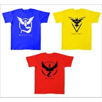 Camiseta Pokémon Go Masculina, Feminina E Infantil.