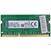 Memória Kingston 4gb Ddr3 1600 Kvr16s11s8-4 Pc10600 Notebook