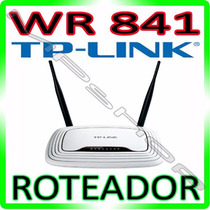 Roteador Tp-link Wireless Tl-wr841 300mbps - 2 Antenas 5 Dbi
