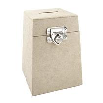 Urna Mdf - Caixa De Sugestão Com Fecho Cadeado 27x27x46cm