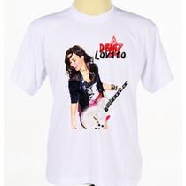 Camisa Camiseta Personalizada Cantora Rock Pop Demi Lovato