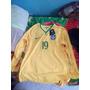 Camisa Seleção Brasileira 2014 Manga Longa-19 Nome: Gabriel