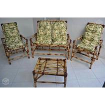 Jogo Bambu / Vime Para Área Externa / Sacada / Varanda