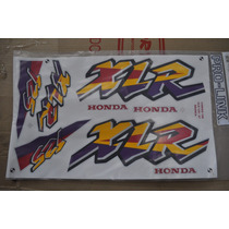Jogo De Faixa Honda Xlr125 1997 Branca