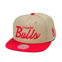 Boné Mitchell And Ness Snapback Chicago Bulls Khaki