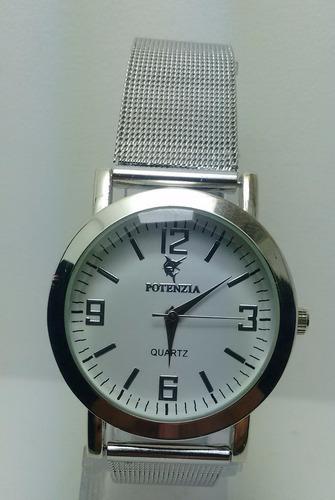 988cd8b4002 Relógio Potenzia Feminino Prata Social Resistente