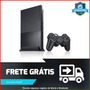 Ps2 Videogame Slim Preto Sony Completo 1 Controle + 3 Jogos