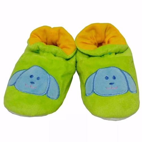 Manta Cobertor E 1 Par De Pantufa P/ Bebe Estampa Verde