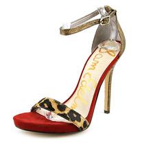 Sam Edelman Eleanor Mulheres Abrir Toe Couro Bronze Sandals