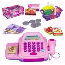 Oferta Caixa Registradora Infantil Com Luz E Som Acessórios