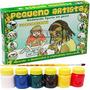 Molde Figura Gesso Brinquedo + Guache + Pincel - Fazendinha