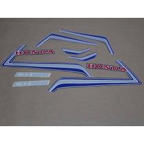 Kit Adesivos Honda Cg 125 1986 Azul