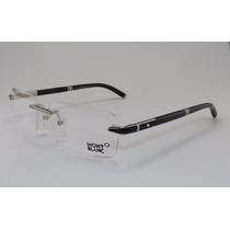Armação Óculos Grau De Grau Sem Aro Mont Blanc 490
