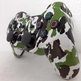 Controle Ps3 Verde Camuflado Exército Manete Play 3 Sem Fio