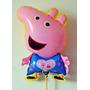 Balão Metalizado Personalizado Peppa Pig Kit 10 Balões