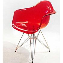 Cadeira Acrílica Dar Base Torre (fixa) Em Aço Inox