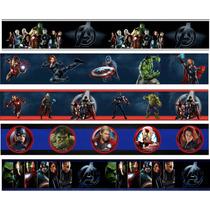 Faixa Border Decorativa Infantil Avengers Vingadores