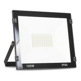 Refletor Led 100w Holofote Branco Frio Bivolt Prova D'água