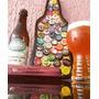Quadro De Tampinhas Em Curva Bar Casa Cerveja Decoração Luxo