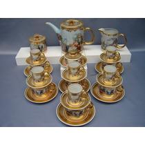 Jogo De Chá E Café Em Porcelana Decoração Pátria - Perfeito