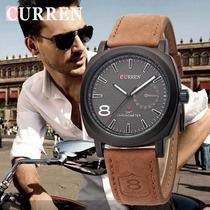 Relógio Curren 8139 Masculino Preto Pulseira De Couro