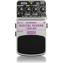 Pedal Behringer Digital Delay Reverb Dr400 Guitarra Dr 400