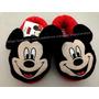 Pantufa Adulto Vermelha Mickey Mouse Disney - Tamanho 34/35