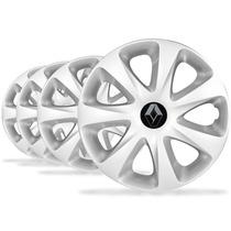 Jogo Calota Aro 13 Clio 2014 Emblema Renault - P11