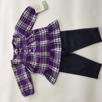 Conjunto Legging Imita Jeans E Bata Tipo Camisa Carters (tam