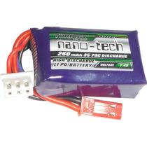 Lipo Nano Tech 2s-7,4v-260mah - 35/70c Para Mini Aeromodelos