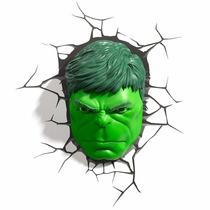 Hulk Mascara Luminária Led 3d Light Fx Avengers
