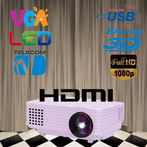 Projetor De Led 3d 3000 Lúmens Full Hd 1080p