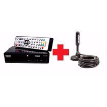 Kit Conversor Digital E Gravador + Antena Digital - Tomate