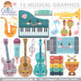 Kit Scrapbook Instrumentos Musicais Imagens Clipart Cod211