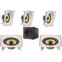 Kit Home Theater 5.1 Jbl Com 5 Caixas De Embutir+sub 10
