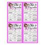 Cartela De Bingo P/ Chá De Cozinha 50 Un + 150 Cartela Extra