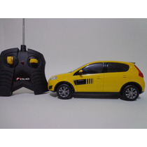 Carro Controle Remoto Fiat Novo Palio Amarelo 1/18 Cks