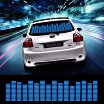 Led Equalizador Gráfico Azul 12v Sensor Painel Carro