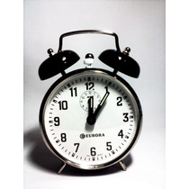 Despertador Relógio Antigo A Corda Campainha Retrô Aço
