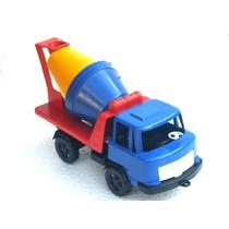 Cod-136 Caminhão Betoneira Brinquedo Plastico Duro Vazado