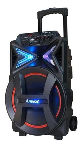 Caixa De Som Amvox Aca 292 New X Portátil Preto 110v/220v