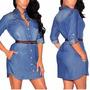 Vestido Jeans Feminino Verão Out Inver Panicat Blogue Botõe