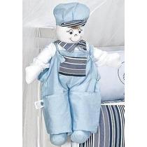 Boneco Porta Fraldas Para Quarto De Bebê Menino Lb1277marinh