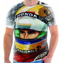 Camiseta Do Ayrton Senna Estampada - 6